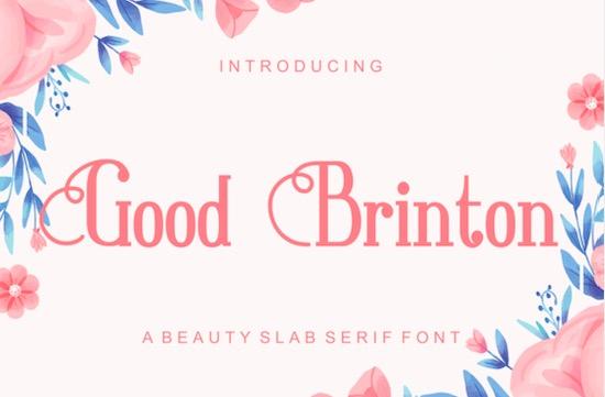Good Brinton font free download