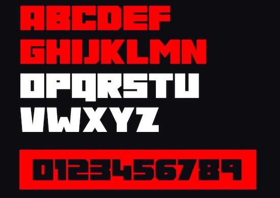 Gore font download