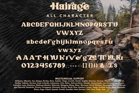 Hairage Font download