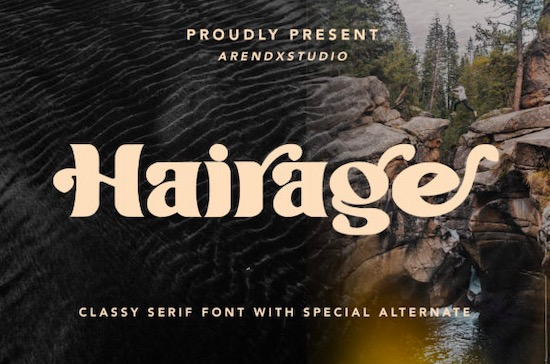 Hairage Font free download