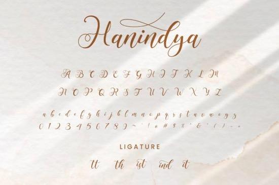 Hanindya font download