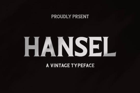 Hansel font free download