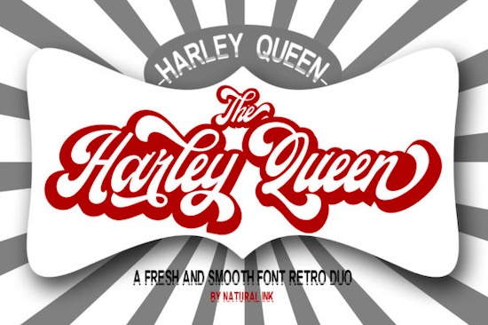 Harley Queen font free download