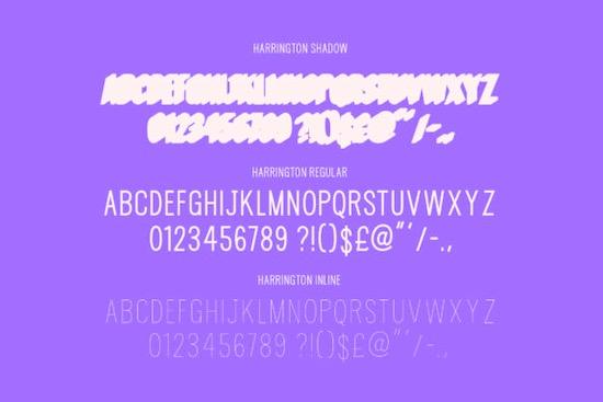 Harrington Sans Serif font