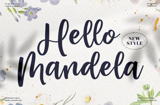Hello Mandela Font free download