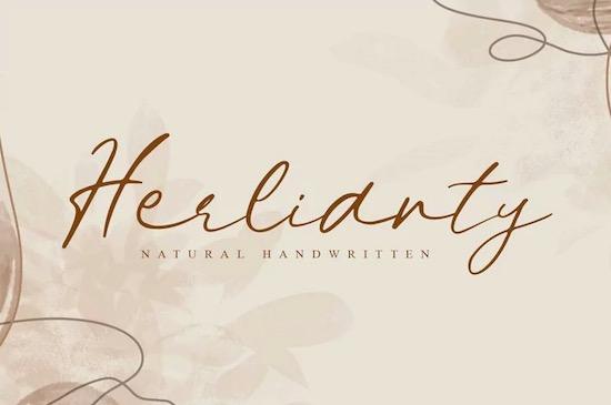 Herlianty font free download