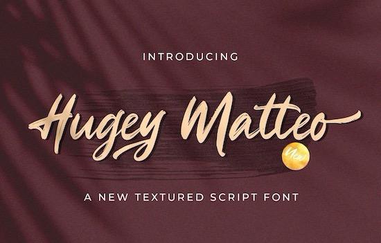 Hugey Matteo font free download
