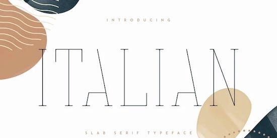 Italian font free download