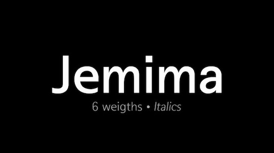 Jemima font family