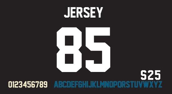 Jersey M54 font free