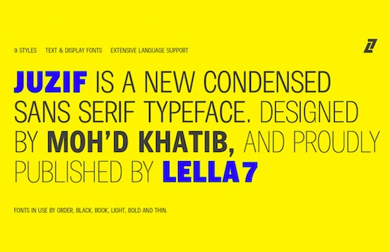 Juzif Black font download