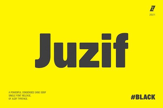 Juzif Black font free download