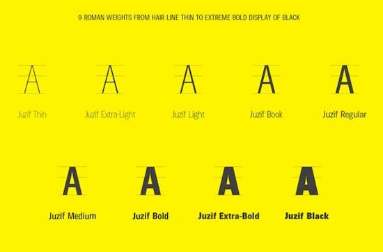 Juzif Black font free