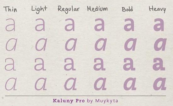 Kaluny Pro font download