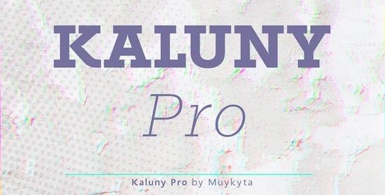 Kaluny Pro font free download