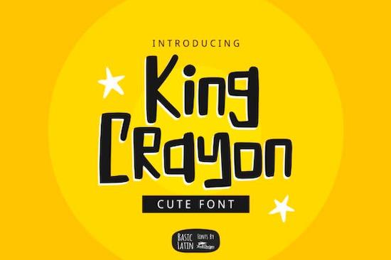 King Crayon font download