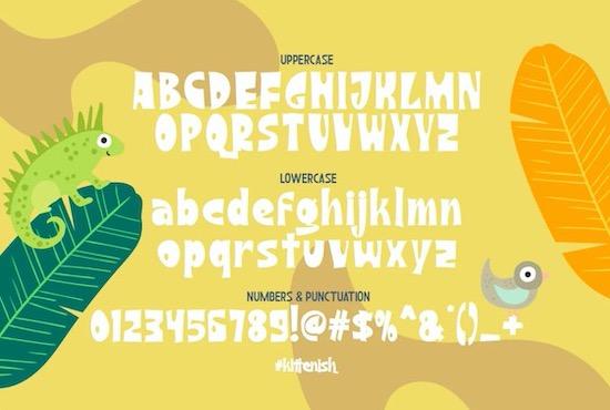 Kittenish Playful font free
