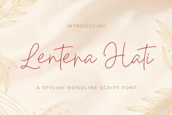 Lentera Hati font free download