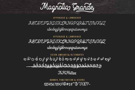 Magnolia Grande font download