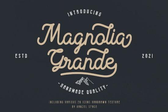 Magnolia Grande font free download