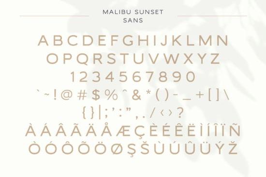 Malibu Sunset font duo download