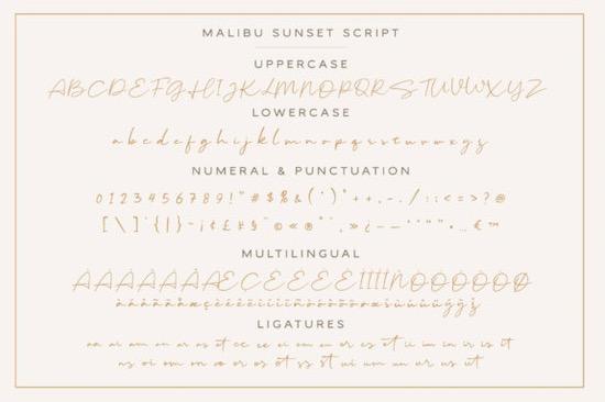 Malibu Sunset font duo free