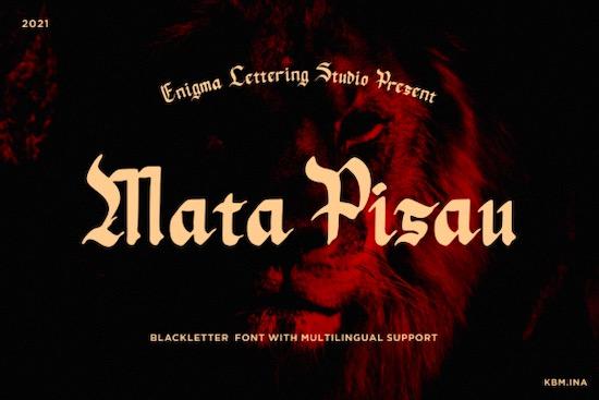 Mata Pisau font free download
