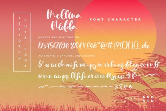 Mellina Nidda font download