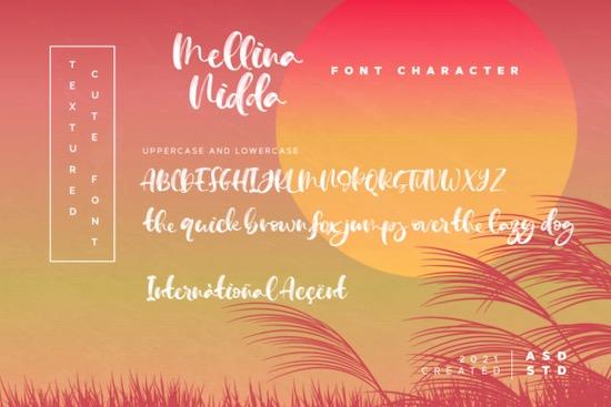 Mellina Nidda font free