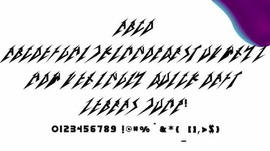 Metallica font download