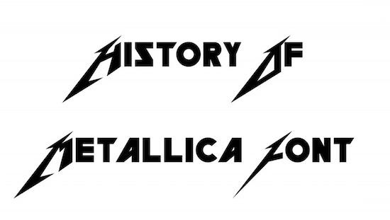 Metallica font free