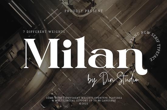 Milan font free download