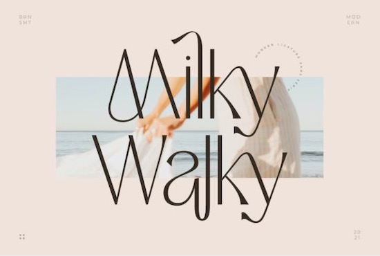 Milky Walky font free download