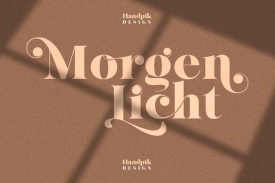 Morgenlicht font free download