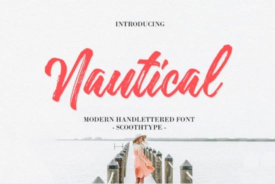 Nautical font free download