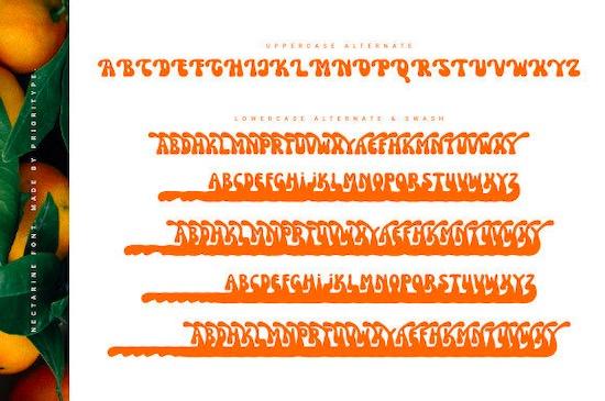 Nectarine font download
