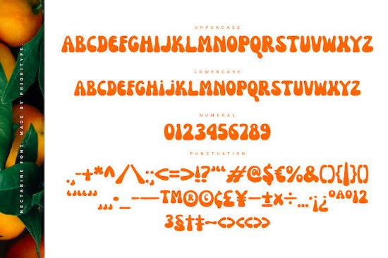 Nectarine font free