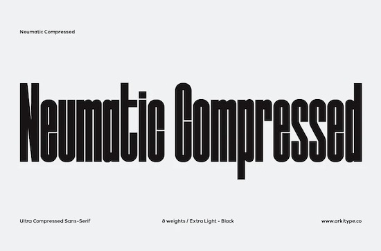 Neumatic Compressed font free download
