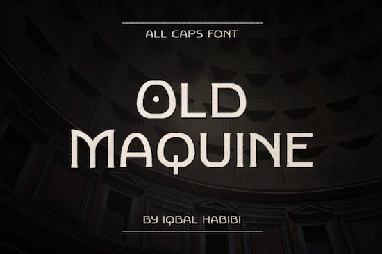 Old Maquine font free download