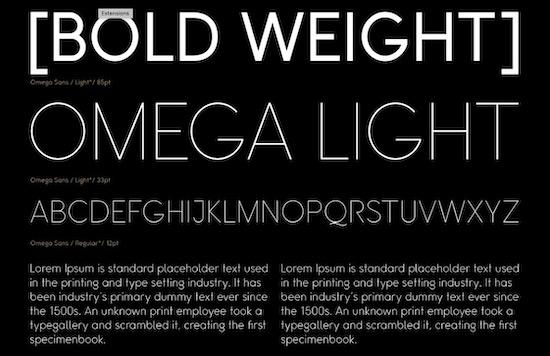 Omega Sans font