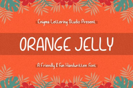 Orange Jelly font free download