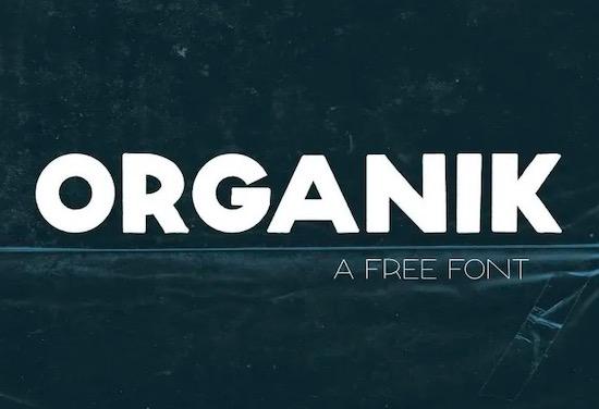 Organik font download