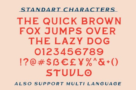 Over South font download