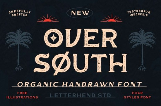 Over South font free download