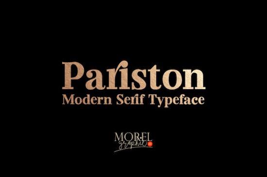 Pariston font free download