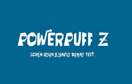 Powerpuff font