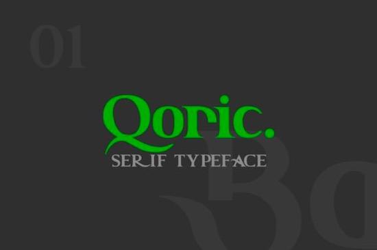 Qoric font free download