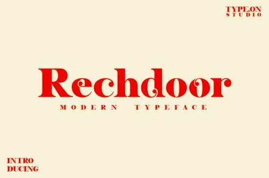 Rechdoor font free download