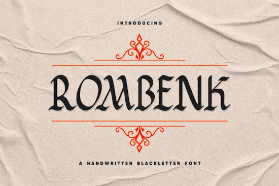 Rombenk font free download