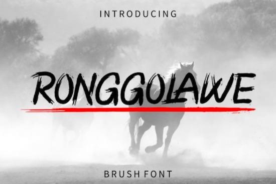 Ronggolawe font free download